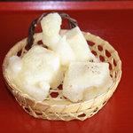 製麺練場 風布うどん - あげ餅150円