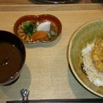 Ginya - コース最後のかき揚げ天丼