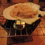 桜 - 天然活ほたて焼き 300円