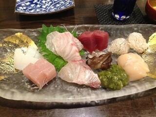 和彩厨房 KATURA - お刺身盛り合わせ