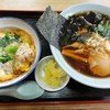 Sennarishokudou - 料理写真:日替り定食(680円) 半チキンカツ丼・ラーメン