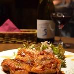 かぶら - 地鶏のグリルニンニク醤油焼き