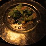 フランス料理 梓屋 - 福津産サワラと旬の野菜のサラダ マスタード風味のドレッシング