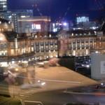鉄板焼 天 本丸 - 東京駅のライトアップがよく見えます