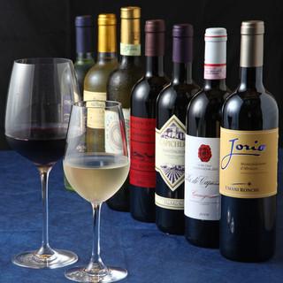 イタリアワインを中心に約80種のワイン