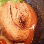 辛麺 真空 - チャーシュー拡大