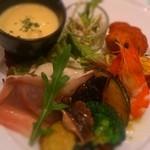 イル タータ - ランチのセット 前菜の盛り合わせ。
