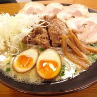 ら~麺処 豪屋 - 当店自慢の食材をすべて詰め込んだ渾身の一杯!全部のせ(1200円)