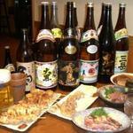 いちき - 料理写真:鹿児島出身マスターの厳選芋焼酎とボリュームたっぷりお肉料理。一杯500円~。
