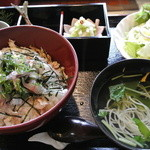 よろずや清兵衛 - 料理写真:あじ丼定食(並) ¥1850