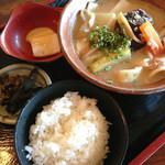 天望館 - ぶんご汁セット(850円)