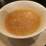 中国料理 桃翠 - とうもろこしの甘みたっぷりコーンスープ