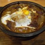 伽哩本舗 - 昔の焼きカレー 870円 昭和30年代最初に作られたビーフ入り焼きカレー