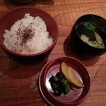 酒菜 和味 - ご飯とお吸い物
