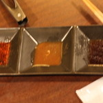 くろつら亭 - 醤油ダレと味噌ダレ、塩がおすすめとのこと