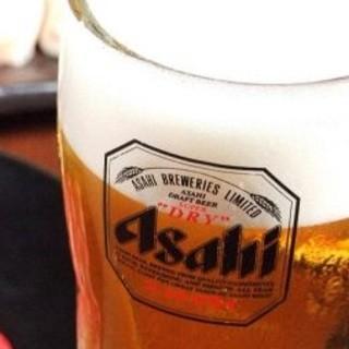 大容量メガジョッキのビールやハイボールもご用意。驚き90円~