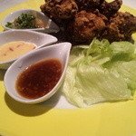 三田菜 - 鶏の唐揚げ3種のソース・750円