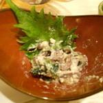菜々海 - お通しは白和え。