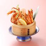 八幡太郎本店 - 料理写真:パリパリ海老とカニ