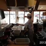 丸亀製麺 - 2003.3.7(木)釜かけ並280円 かけだしで食べる釜揚げ麺d(^_^o)