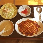 ウイング - 台湾人の店でオムライスを食べました、定食は550円だけ、安いですね(~_~