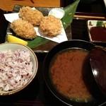 17694543 - ヒレカツカキ定食