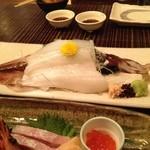 17695015 - 刺身の残りは天ぷらにしてもらった