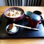 17698963 - つくね玉子とじそば(1,050円)