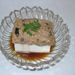 地どり割烹 とり善 - 冷やし豆腐 500円