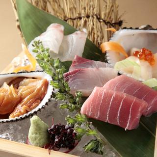 羽田市場から仕入れた鮮魚と厳撰したお魚をご提供いたします。