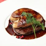 スパイラル - 料理写真:牛フィレ肉とフォアグラのロッシーニ