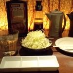 キムカツ - 麦焼酎『千年の眠り』とキャベツでチビチビ呑む~(^_^;)