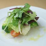ヴォーノミイナ加藤 - 新鮮な魚のカルパッチョ。 レモンとオリーブオイルのドレッシング