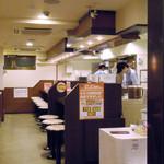 CoCo壱番屋 - めずらしくカウンターにお客さんがいません。