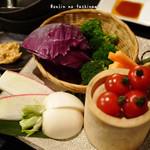 麺屋酒家 鉄風 - 旬野菜の盛り合わせ