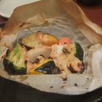 17711362 - いろいろ浸し野菜特製かつおソース