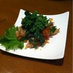 いっぽ - 菜の花とあさりの和え物350円
