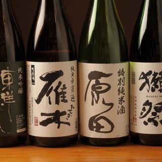 山口の地酒と諸国銘酒いろいろ♪山口郷土料理と共にお楽しみいただけます。