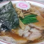 青島食堂 - チャーシュー大盛@¥850 メンマ¥100増し
