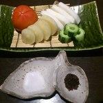 旬彩料理 てん - 野菜のぶった切り