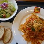 レストラン並木 - 高原ナポリセット、サラダ、パン、飲み物付き