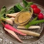 17720511 - 関西野菜のバーニャカウダ  1200円