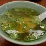 餃子センター - 焼めしのスープ