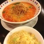 帆船 - 担々麺チャーハンセット1000円