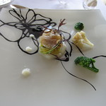 17722300 - 前菜・スズキのカルパッチョ キャベツのテリーヌ