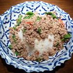 17727599 - ムー・ガパオ・ラー・カオ (豚肉のバジル炒めかけ御飯)