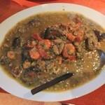 エコ ロロニョン - 6回目2013年3月9日オフ会 おくらと魚介の煮物