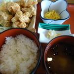 エコレストラン あいのの - 料理写真:唐揚げ定食600円