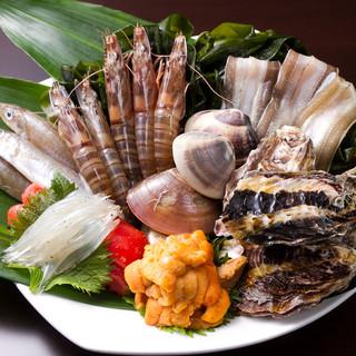 新鮮な食材を全国からお取り寄せしております。