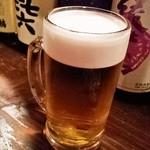 鶏鳥kitchen ゆう - 生ビール